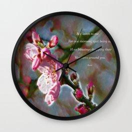 Poem from Rumi Wall Clock