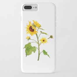 One sunflower watercolor arts iPhone Case