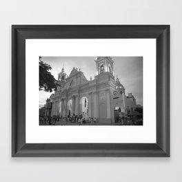 mexico church Framed Art Print
