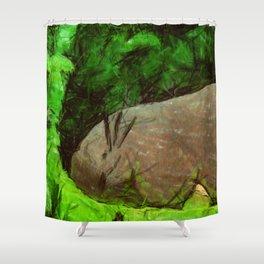 sleeping forest guardian  Shower Curtain