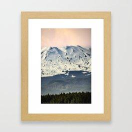 Mount St. Helens at Sunset Framed Art Print