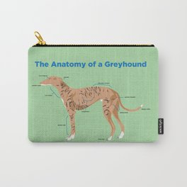 The Anatomy of a Greyhound- Fawn Brindle Carry-All Pouch