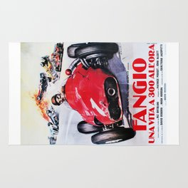Fangio, Race poster, Vintage poster, F1 poster Rug