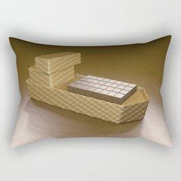 Chocolate Ship - 3D Art Rectangular Pillow