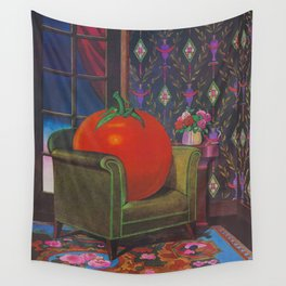 Therapy With A Tomato Milton Glaser - Tomato- Something unusual is going on here - 1978 Wall Tapestry