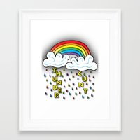 cunt Framed Art Prints featuring Cunt Storm by The Weirdoll Effect