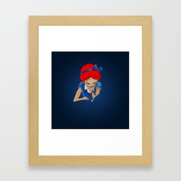 Alice in Readerland Framed Art Print