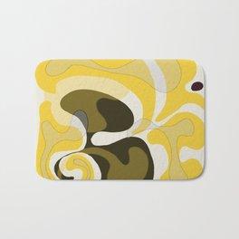 Yellow and Black Abstract Bath Mat