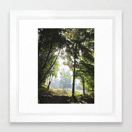 Lumberjack town Framed Art Print