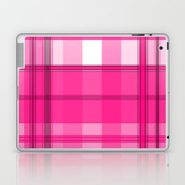 Shades of Pink and White Plaid Laptop & iPad Skin
