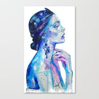 queen Canvas Prints featuring Queen by Andreea Maria Has
