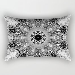 Blac White Mandala Abstract Rectangular Pillow