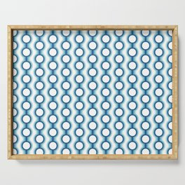 Retro-Delight - Conjoined Circles - Blue Serving Tray