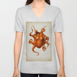 Octopus Cephalopod 1915 Unisex V-Neck