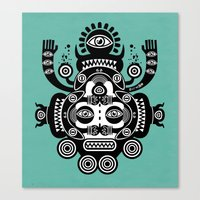tatoo Canvas Prints featuring Râ Tatoo by Exit Man