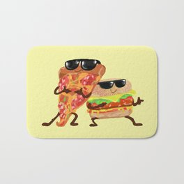 Burgers and Pizzerman Bath Mat