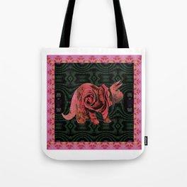 Vintage Rose 1960s Pink Dinosaur Print Tote Bag