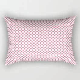 Morning Glory Pink Polka Dots Rectangular Pillow
