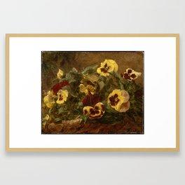 Pansies , Henri Fantin-Latour Framed Art Print