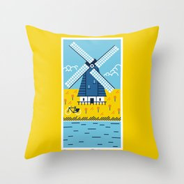 Holland Windmill Throw Pillow