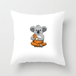 Keep Calm And Love Koalas Shirt Meditation Peaceful Koala Throw Pillow