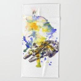Star Wars Millenium Falcon  Beach Towel