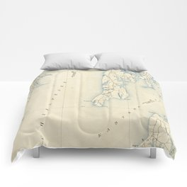 Vintage Annapolis MD & Chesapeake Bay Map (1902) Comforters
