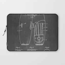 Football Pants Patent - Football Art - Black Chalkboard Laptop Sleeve