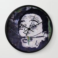 salvador dali Wall Clocks featuring Salvador Dali by Victoria Herrera