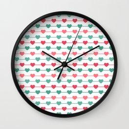 String of Hearts Wall Clock
