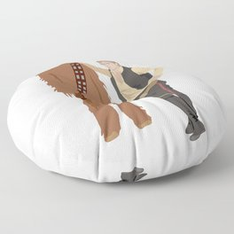 Han Solo and Chewbacca Floor Pillow