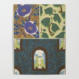 Art Deco vintage pattern Poster