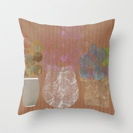 Vases on Board Throw Pillow