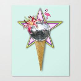 DISCO ICE CREAM Canvas Print