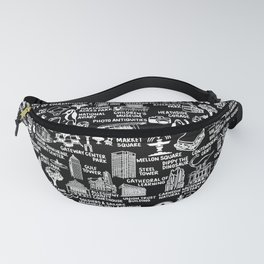 Pittsburgh Map  Fanny Pack