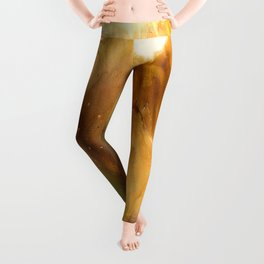 Abstract Acrylic Painting FANTASY Leggings