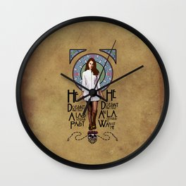 Kiss Me On my Open Mouth Wall Clock
