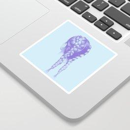 Purple hair Sticker