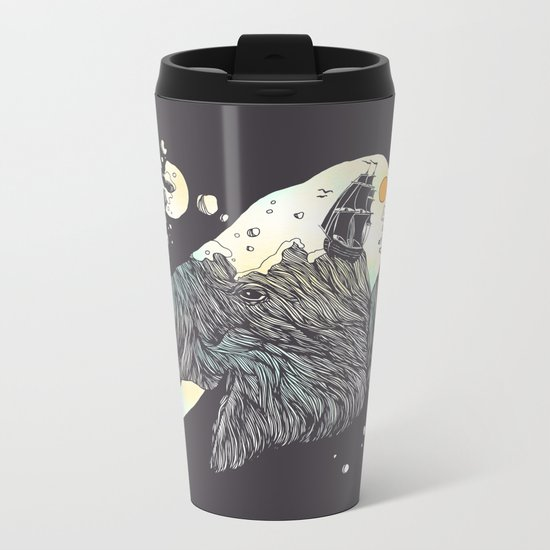 The Grey Gust and the Savage Sea Metal Travel Mug