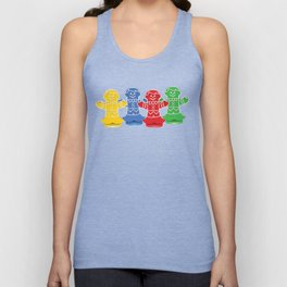 Candy Board Game Figures Unisex Tank Top