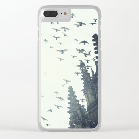 The Sun is always blinding me Clear iPhone Case