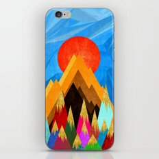 Golden Mountains iPhone Skin