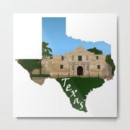 Texas: Alamo Metal Print