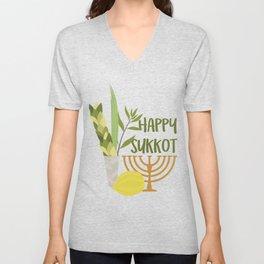 Sukkot Shalom Best Wishes for the Sukkot Holiday Unisex V-Neck