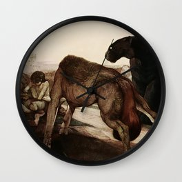 """""""The Council Rock"""" by Charles Ditmold from Kipling's Tale Wall Clock"""