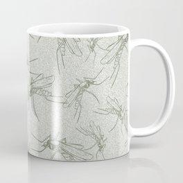 Texture with mosquitoes Coffee Mug