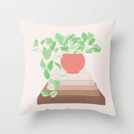 Design Plant Shelfie - Earth Tones Throw Pillow