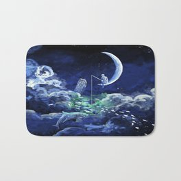 The Doctor Dreaming Of Fishing Bath Mat
