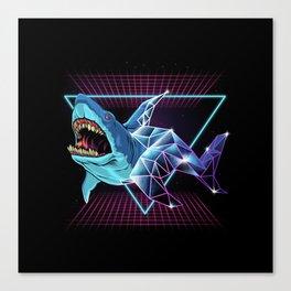 Shark 80s Canvas Print