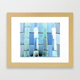 Blue Tile Framed Art Print